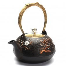 1200ML Plum Blossom Pattern Cast Iron Tea Pot