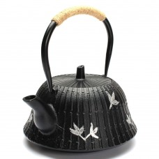 1200ML Cast Iron Tea Pot (Black)