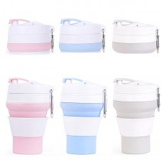 350ml Portable Silicone Folding Cup Collapsible Travel Cup Coffee mug Drinking Cup