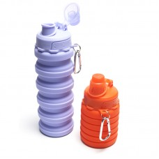 500ml Silicone Collapsible Water Bottle BPA Free FDA Foldable Cup