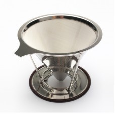 Pour Over Coffee Maker, Stainless Steel Reusable Drip Cone Coffee Filter, Single Cup Coffee Brewer