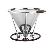 Stainless Steel Coffee Filter,Pour Over Coffee Drip Cup Paperless Reusable Single Layer Coffee Filter