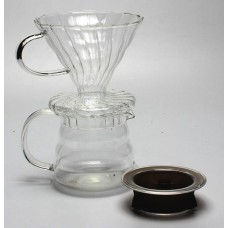 Borosilicate Glass Coffee Cone Dripper Tea Brewer Set with Coffee Pot Thermal Carafe