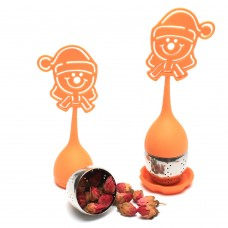 Christmas Snow Man S/S And Plastic Tea Infuser