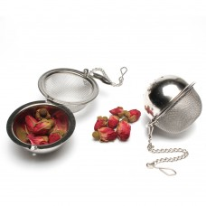 5.0 Stainless Steel Mesh Tea Ball Round Hole Tea Strainer With Chain