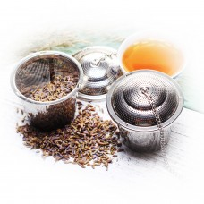 5.0 Stainless Steel Etch Hole Tea Strainer With Chain