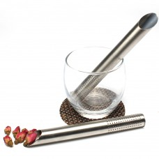 Stainless Steel Cylindrical Tea Strainer For Loose Leaf Tea