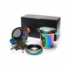 Coloured Titanium Plating Stainless Steel Tea Infuser Strainer Gift Set