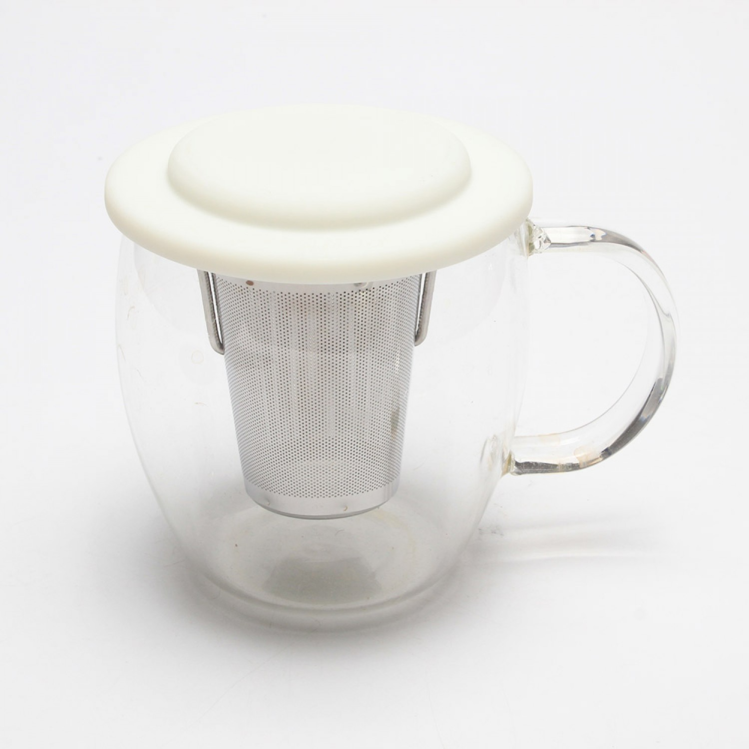 Etched Mesh Stainless Steel Tea Infuser with Movable Holder Lid