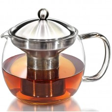 Tea Pot and Tea Infuser Set - Glass Tea Maker Infusers Holds 3-4 Cups Loose Leaf Iced Blooming or Flowering Tea Filter